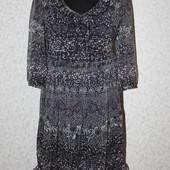 s.Oliver стильное платье шифон на М-Л