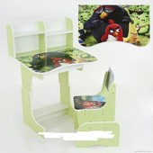 Парта школьная растишка Angry Birds 023, салатовая