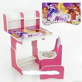 Парта школьная растишка Winx(Винкс) 013, розовая