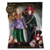 Набор Disney alice through the looking glass alice & mad hatter exclusive шляпник и алиса