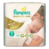 Новые Памперс премиум кеа 1 Pampers Premium Care 22 шт.