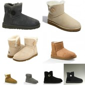 Угги Ugg Bailey Button Mini на меху в ассорт, р. 36-40, код fr-1950