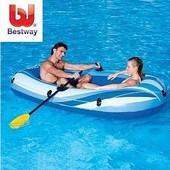 Лодка Двухместная: Bestway 61095. Надувная 2-х местная лодка 234 х 135 см.  Лодка над
