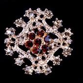 Брошь Хрустальный цветок xd028
