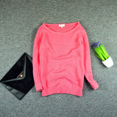 M-L Papaya яркий свитер плотной и приятной вязки!0144