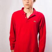 Поло с длинным рукавом Lacoste, красное (M)