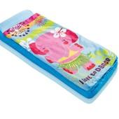 Детcкий яркий надувной матрас - кровать с одеялом 64*152*20