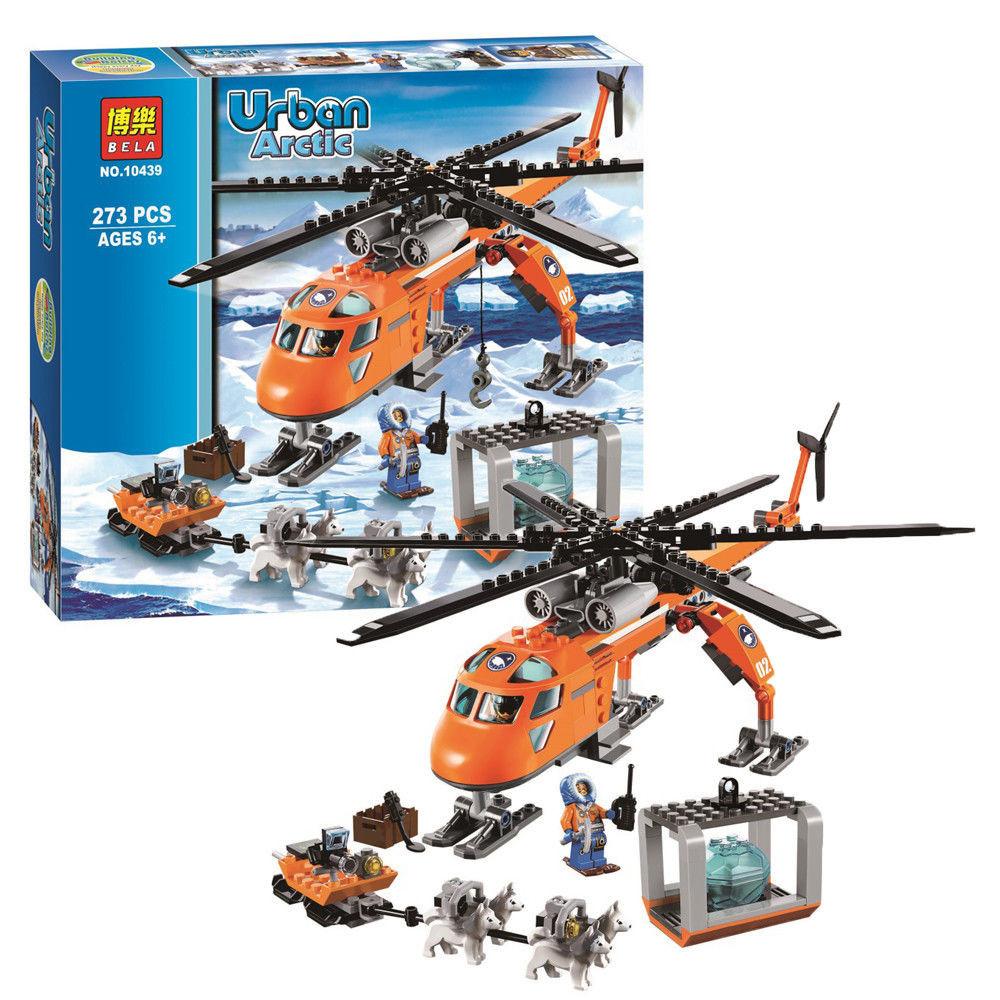 Конструктор bela серия urban arctic 10439 арктический вертолёт (аналог lego city 60034) фото №1