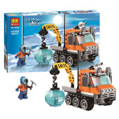 конструктор bela серия urban arctic 10438 арктический гусеничный вездеход (аналог lego city 60033)