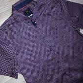 Шикарная рубашка F&F slim fit р. Л