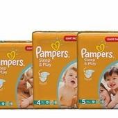 Подгузники  Pampers Sleep & Play Памперсы детские