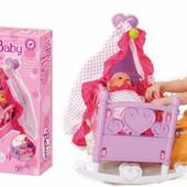 Кровать-колыбель для куклы 008-09