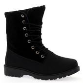 Зимние высокие ботинки черного цвета