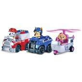 Paw Patrol Racers 3-pack vehicle set, Chase/Marshall/Skye