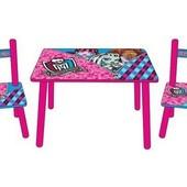 Детский столик со стульчиками M 2328 Monster High
