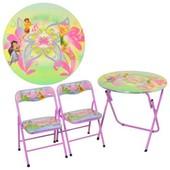 Детский круглый столик DT 22-16 S2 Феи (складной)