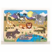 Melissa&Doug рамка-вкладыш пазл домашние животные и дикие животные