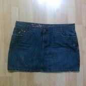 Фирменная джинсовая юбка XXL