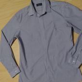 Рубашка приталенная в полоску  Limited новая