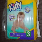 Памперсы Kidy 3 40 шт.запечатаные