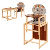 Стульчик для кормления трансформер деревянный МV-010-26-1