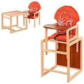 Стульчик для кормления трансформер деревянный МV-010-27-4
