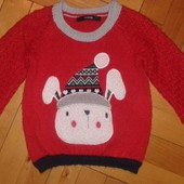 Теплый,классный свитерок Джордж отл.сост.будет до 3 лет,замеры внутри!!!