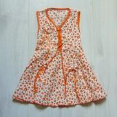 Яркое летнее платьице для девочки. Размер 2 года. Состояние: новой вещи