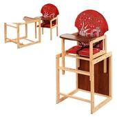 Стульчик для кормления трансформер деревянный МV-010-21-2