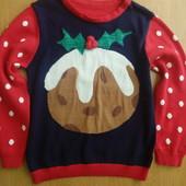 Новогодний свитер на 2-3 г