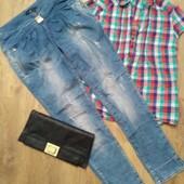 Классные джинсы рванки