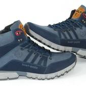 Мужские зимние ботинки с мехом, navy