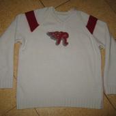 Супертёплый шерстяной свитер, пуловер в идеале!шерсть 95%, р L-XL!