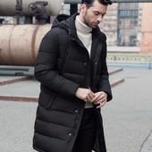 Зимняя куртка-пальто с отстёгивающимся капюшоном