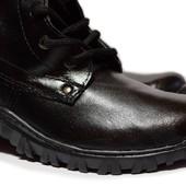 Берцы/Ботинки демисезонные - кожаные (БА-22)