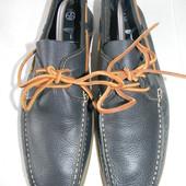Мужские кожаные мокасины new look р.43 (9) дл.ст 28,5см