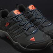 Мужские кроссовки Adidas Gore-tex,черно-оранжевые
