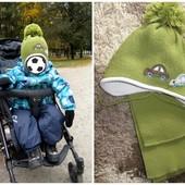 Отличный комплект шапка+шарф на мальчика