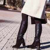 Зимние сапоги, черного цвета