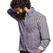 Рубашка мужская в клетку р. ворота 39/40 Tchibo Германия