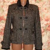 Шерстяное полу пальто из лимитированной коллекции MNG р.42-46