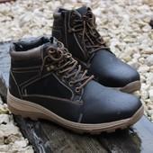 Ботинки зимние с молнией замок Т606