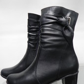 Кожаные зимние ботинки 37,38,41