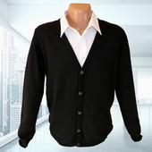 Мужской черный кардиган хлопок р.XL Takko Fashion Германия