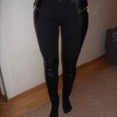 М-ка штаны со вставками из эко кожи