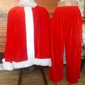 Маскарадный костюм Санты до 58 размера качественный +подарок