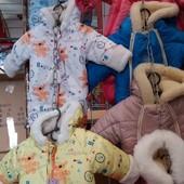 Детские зимние комбинезоны Мишутка от 0 до полугода