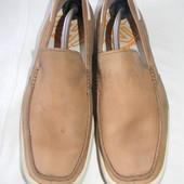Мужские кожаные мокасины Timberland  р.44,5 (10.5W) дл.ст 29,5 см
