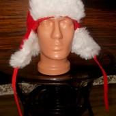 Маскарадная шапка-ушанка для Санты+подарок