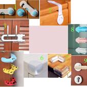 Детская безопасность. Защита от детей на ящики, двери, холодильник, стол, розетки, уголки